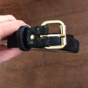 Ann Taylor Genuine Leather Snakeskin Belt